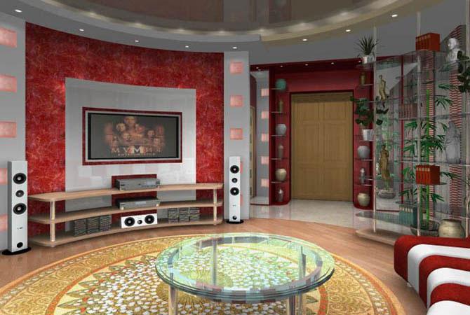 Интерьер угловой комнаты