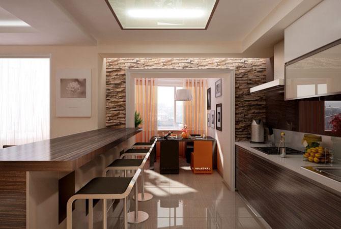 Готовый дизайн однокомнатной квартиры